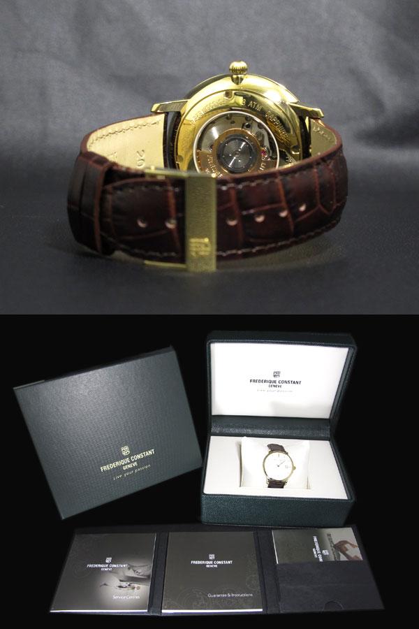 FREDERIQUE CONSTANT フレデリック コンスタント 自動巻き スイス製 メンズ 腕時計 FC-306V4S5 レザーベルト-3