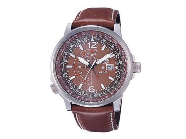 シチズン CITIZEN 逆輸入 プロマスター ナイトホーク エコドライブ GMT メンズ 腕時計 BJ7017-17W レザー-1
