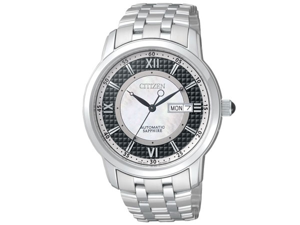 シチズン CITIZEN 逆輸入 自動巻き メカニカル シェル文字盤 メンズ 腕時計 NH8300-57E メタルベルト-1