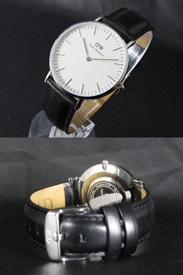 Daniel Wellington ダニエルウェリントン 40mm 腕時計 0206DW シェフィールド Sheffield メンズ シルバー×ブラック メンズ-2