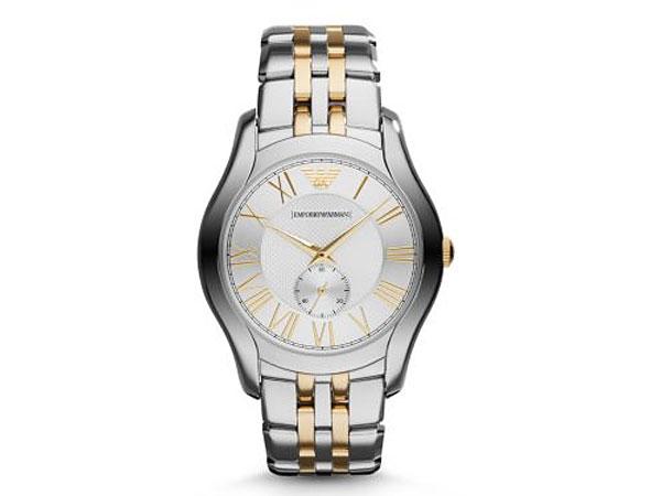 エンポリオ アルマーニ EMPORIO ARMANI 腕時計 AR1844 メンズ シルバー×ゴールド コンビ-1