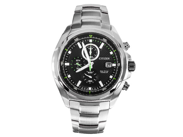シチズン CITIZEN エコドライブ 日本製 ソーラー クロノグラフ 腕時計 メンズ CA0190-56E-1