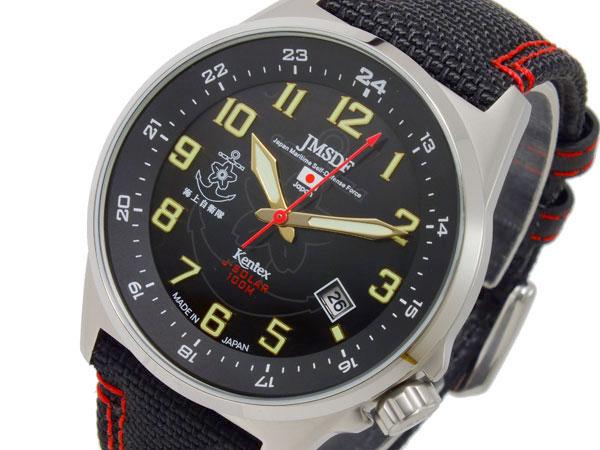 ケンテックス KENTEX JSDFソーラースタンダード メンズ 腕時計 S715M-03 ブラック-1