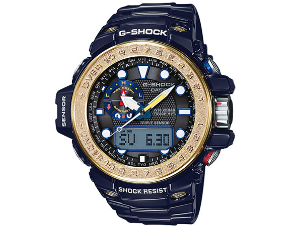 カシオ CASIO Gショック G-SHOCK ガルフマスター 電波 ソーラー アナデジ 腕時計 GWN-1000F-2A-1