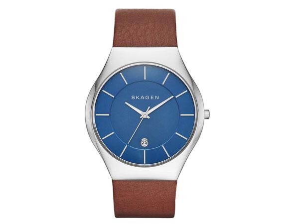 スカーゲン SKAGEN 腕時計 メンズ SKW6160 ブルー レザーベルト-1
