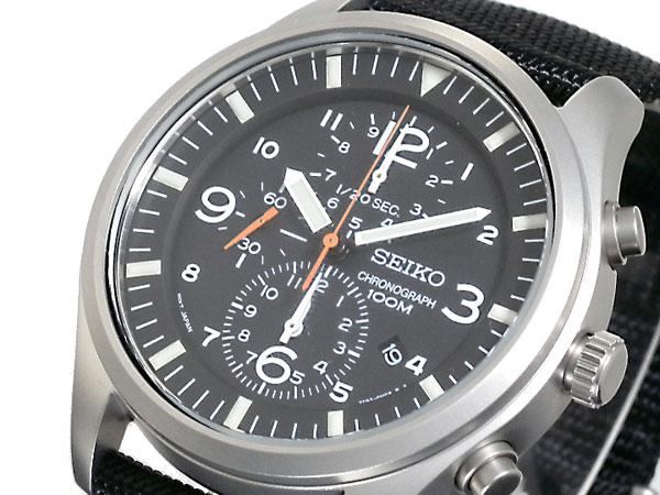 セイコー SEIKO 逆輸入 クロノグラフ クォーツ メンズ 腕時計 SNDA57P1-1