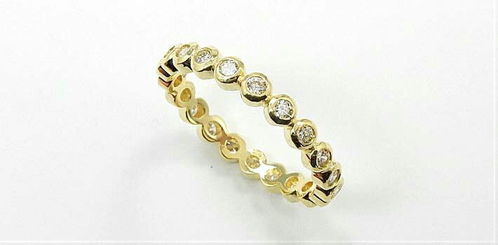送料無料 ホワイトゴールド 18金 0.55カラット 2種類ございます 18金 (K18) リング ダイヤモンド フルエタニティ (K18) typeAAAA