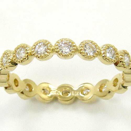 ホワイトゴールド typeAAAA 0.55カラット (K18) 18金 2種類ございます ダイヤモンド (K18) 送料無料 18金 リング フルエタニティ