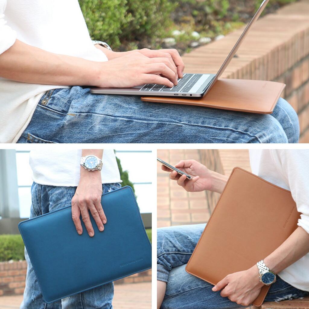 内側には合成スウェード使用し、デバイスを保護