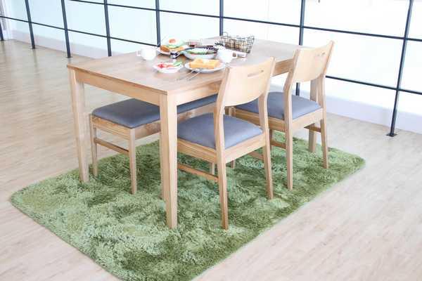 DS-2852 BR NA ダイニング4点セット 食堂セット 4人用 幅135cm 長方形 ダイニング テーブル ベンチ チェアー 食卓 シンプル おしゃれ 木製