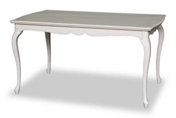 DT140 fleur 140cm幅 4人用 ダイニング テーブル 食堂 テーブル 机 猫脚 アンティーク 欧風 ヨーロッパ 猫脚 白家具