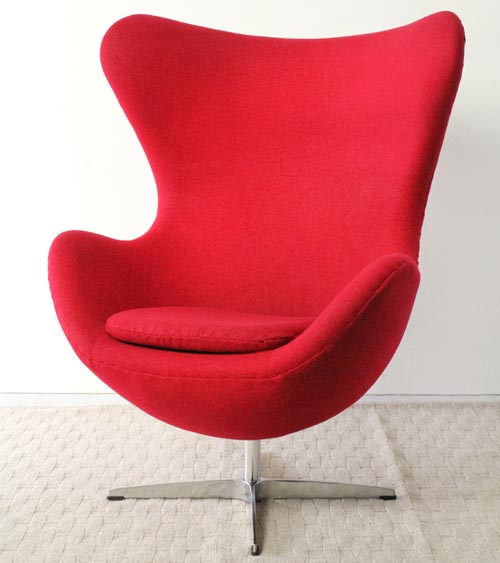 ZM-0001A BL RD GY エッグチェアー egg chair リラックスチェアー パーソナルチェアー 1人用ソファー ホールディング 1人掛け デザイナー アルネ・ヤコブセン リプロダクト品