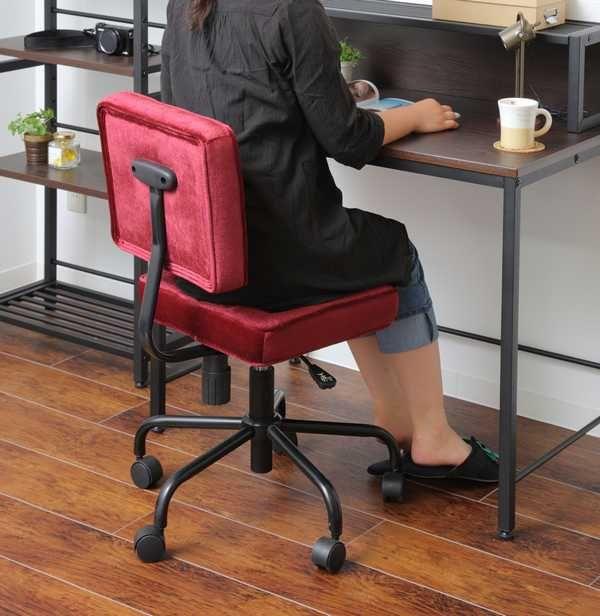 42-462 キャメル 42-463 モスグリーン 42-464 ワインレッド オフィスチェアー Jewel ジュエル かわいい合成皮革 コンパクト パソコンチェアー シンプル デスクチェアー 昇降式 イス いす 椅子   新築 お祝い 父の日 母の日 プレゼント