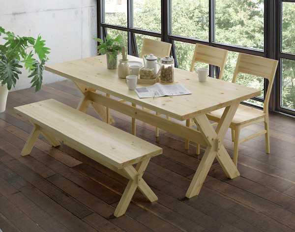 140テーブル 凪 140cm 食堂テーブル 食卓 ヒノキ ひのき 檜 ヒノキチオール ストレス解消 疲労回復 消臭 防ダニ 2本脚 シンプル