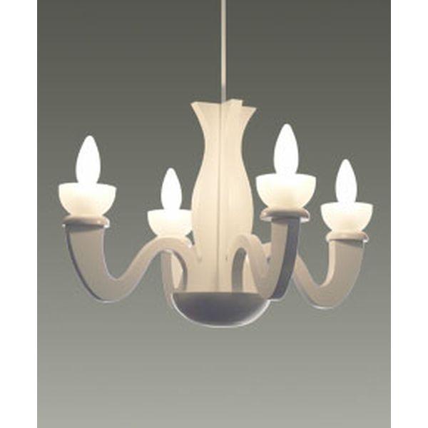 C2020-W 天井照明 シャンデリア ランプ ペンダントライト シーリングライト 4灯 Pure White(M) ピュアホワイト 並木 紀之
