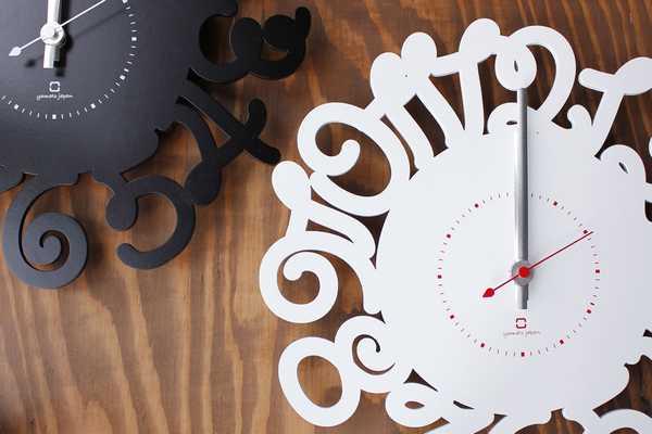 YK14-106 Ring Letter リングレター 掛け時計 ウォールクロック 壁掛け 木目 北欧 新築 引っ越し 新居 新店 プレゼント