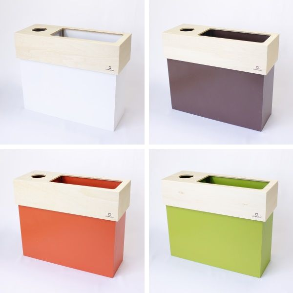 YK15-006 dust&tissue case CUBE ダスト&ティッシュケース キューブ ゴミ箱 屑箱 ダストBOX ミドルタイプ 木目 北欧風