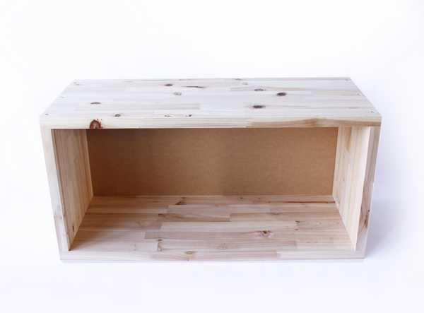 YK16-003 FREE BOX(W) フリーボックス(W) 集成材 BOX 収納棚 組み合わせ 積み重ね 長方形 本棚