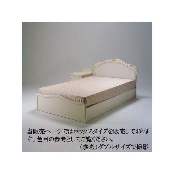 B-12 ボックスタイプ(桐スノコ) ベッドフレーム単品販売  セミダブルサイズ SDサイズ エレガント ゴージャス 豪華 繊細 白家具 洋風 北欧 日本製