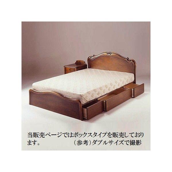 B-14 ボックスタイプ(桐スノコ) ベッドフレーム単品販売  ワイドダブルサイズ WDサイズ エレガント ゴージャス 豪華 繊細 白家具 洋風 北欧 日本製
