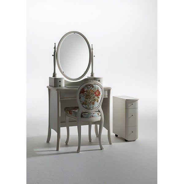 H-12 アルバ ARBA 一面鏡 ドレッサー チェアー付 鏡台 猫脚 ネコ脚 エレガント ゴージャス 豪華 繊細 白家具 洋風 北欧 日本製