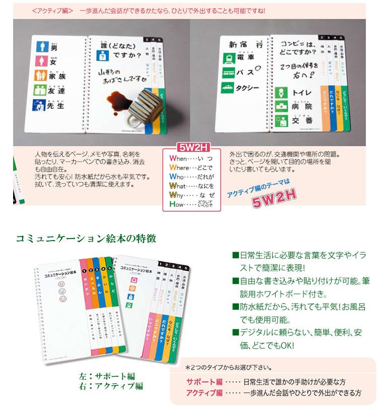 コミュニケーション絵本【筆談/福祉文具】
