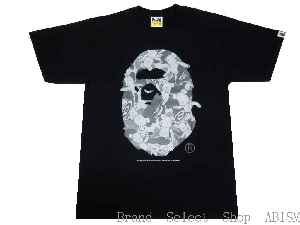 330f04da A BATHING APE (エイプ) x MEDICOMTOY (Medicom Toy) APE HEAD BE@RBRICK TEE [T- shirt] [black] [new article] [product made in Japan] [BAPE/ ベイプ]