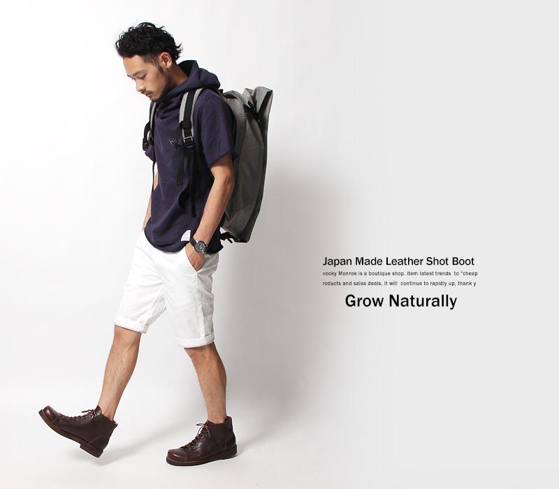 【GROW NATURALLY/グロウナチュラリー】国産/日本製/栃木レザーレースアップブーツ