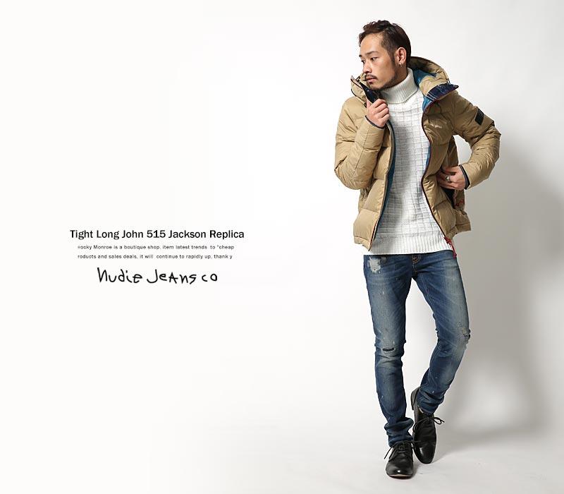 【Nudie Jeans】TIGHT LONG JOHN 10.75オンスUSED加工パワーストレッチデニムパンツ