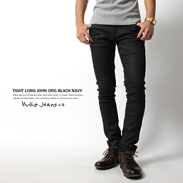 【Nudie Jeans】TIGHT LONG JOHN ORG BLACK NAVY