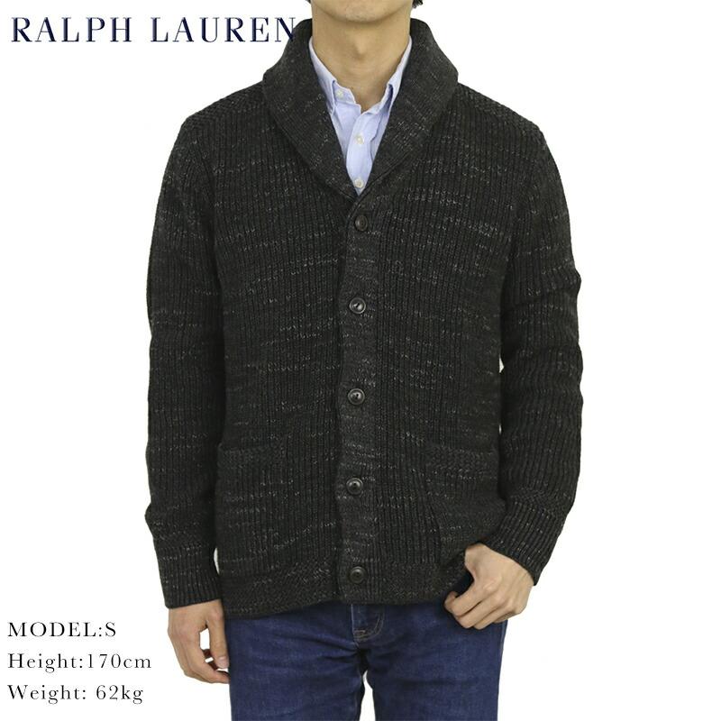 Ralph Lauren Men's Lined Shawl Collar Sweat Cardigan