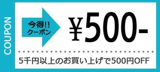 5千以上で使えるクーポン券【500円オフ】