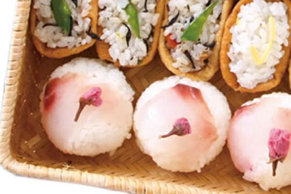 鯛と桜のてまりごはん