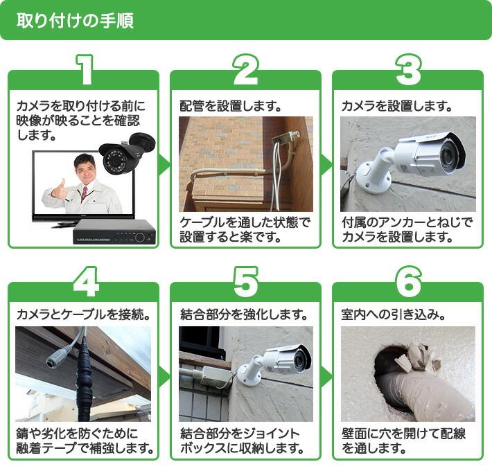 防犯カメラ取り付けの手順1