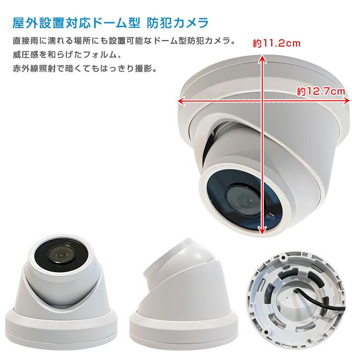 ドーム型カメラサイズ