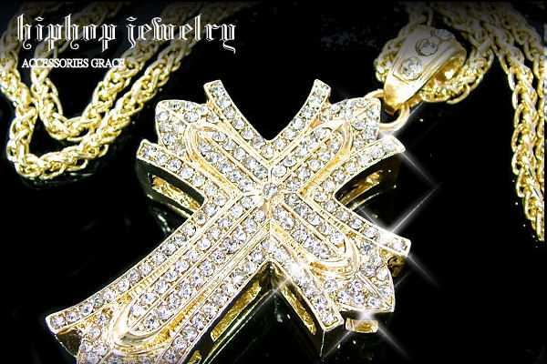 Accessories grace rakuten global market chain with hip hop hiphop cross on miami gold pendant head popular hiphop featured design and finish solid gold mesh big head aloadofball Image collections