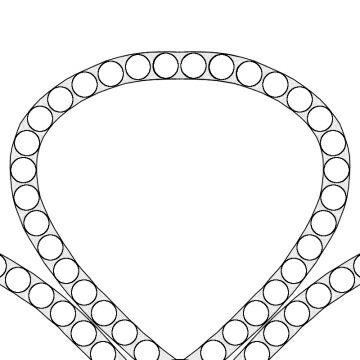 モチーフ表面のミル打ち構造