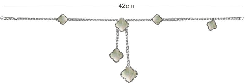 アクセントフラワーネックレス白蝶貝(マザーオブパール)
