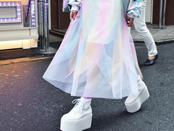スカート/チュール/ロング/ミモレ丈/原宿系/ファッション/レディース