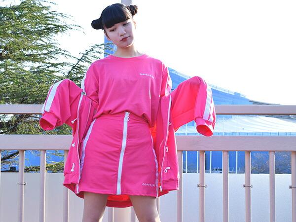 タイトスカート/ミニスカート/カラフル/サイドライン/原宿系/韓国/ファッション/レディース