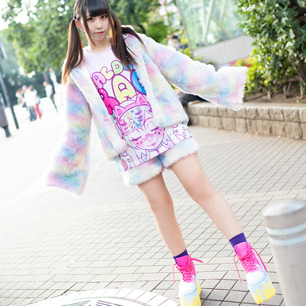 原宿系/ファッション/ファー/パステル/ゆめかわいい/ファンシー/キュート/レディース/個性的