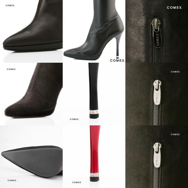 COMEX コメックス ブーツ ニーハイブーツ ロングブーツ comex5378 送料無料 日本製 本革 ハイヒール レディース