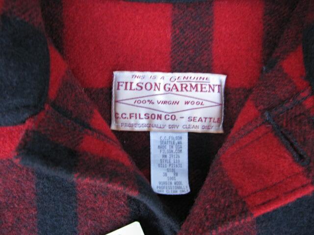 Filson washed single mackinaw cruiser