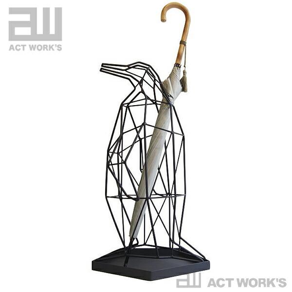 ACT WORK'S シャドーワイヤー ペンギン(傘立)