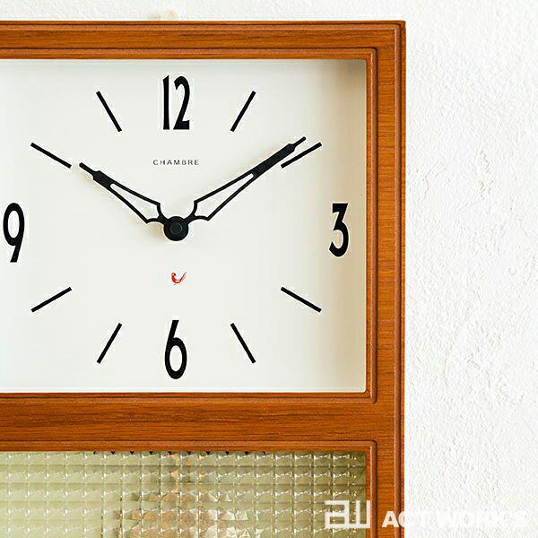 グラスペンデュラムクロック 振り子時計 CHAMBRE GLASS PENDULUM CLOCK 《全2色》 掛け時計 【シャンブル デザイン雑貨 壁掛け時計 インテアリア 北欧 interzero インターゼロ ウォールクロック】