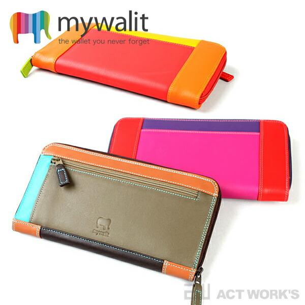 mywalit ラウンドジップ長財布 《全9色》