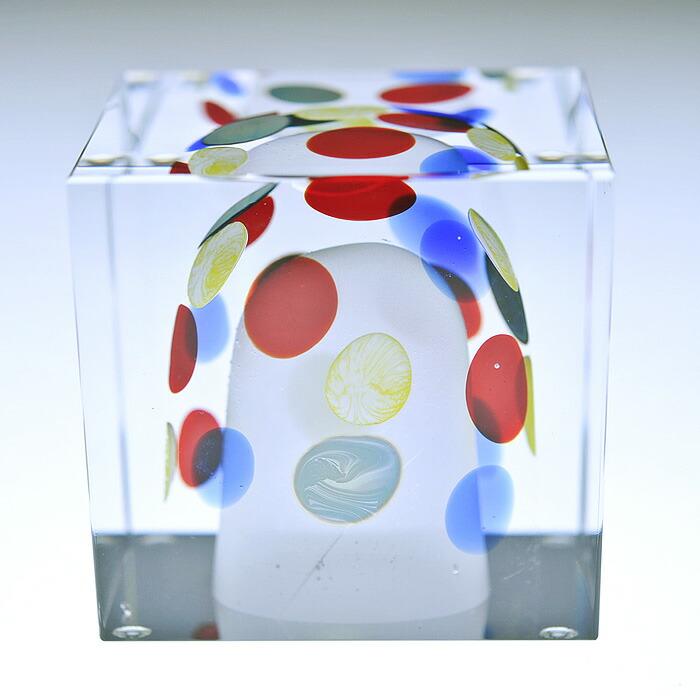 iittala/イッタラ (Nuutajarvi/ヌータヤルヴィ) Oiva Toikka オイバ・トイッカ Annual Cube アニュアル キューブ 《ビンテージ/vintage/ヴィンテージ》  2003年
