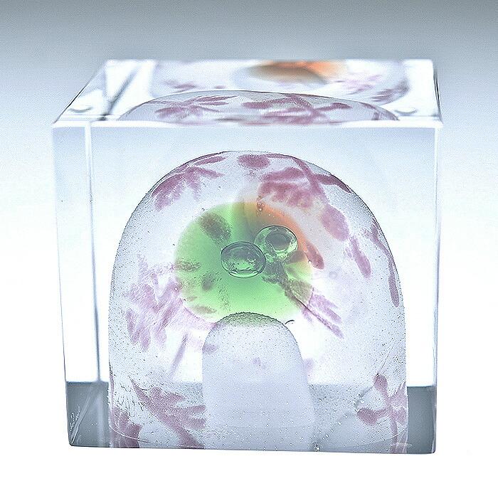 iittala/イッタラ (Nuutajarvi/ヌータヤルヴィ) Oiva Toikka オイバ・トイッカ Annual Cube アニュアル キューブ (箱入り) 《ビンテージ/vintage/ヴィンテージ》  2008年