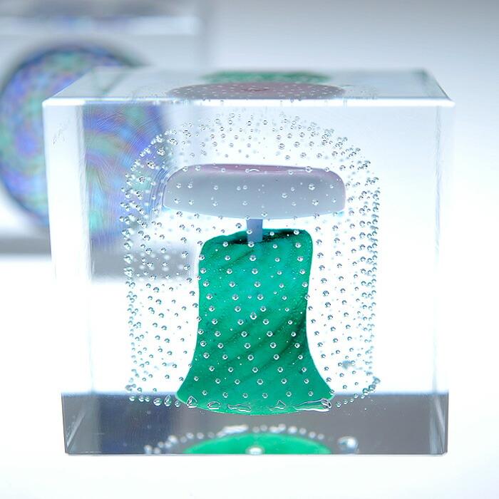 iittala/イッタラ (Nuutajarvi/ヌータヤルヴィ) Oiva Toikka オイバ・トイッカ Annual Cube アニュアル キューブ 《ビンテージ/vintage/ヴィンテージ》  1995年