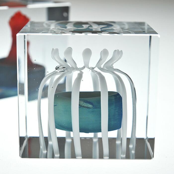 iittala/イッタラ (Nuutajarvi/ヌータヤルヴィ) Oiva Toikka オイバ・トイッカ Annual Cube アニュアル キューブ 《ビンテージ/vintage/ヴィンテージ》  1990年